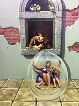 Captured inside a bubble