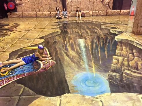 On Aladdin's flying carpet