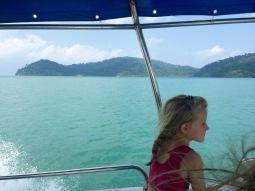 Enjoying the boat ride