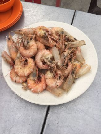 Prawns served at Sea Pearl