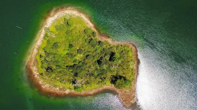 Island from above