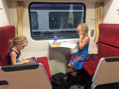 Kids drawing away