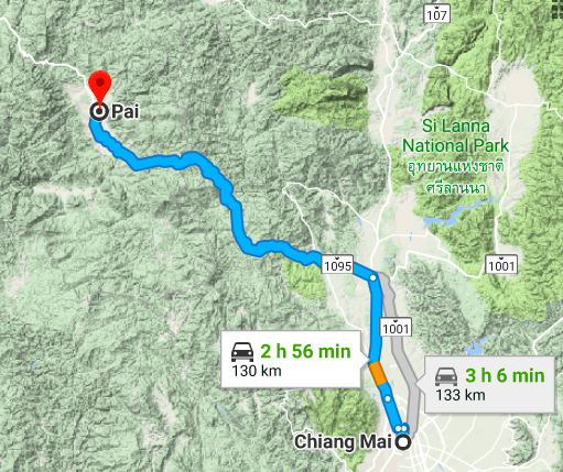 Chiang Mai to Pai
