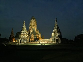 Chai Watthanaram Temple at night
