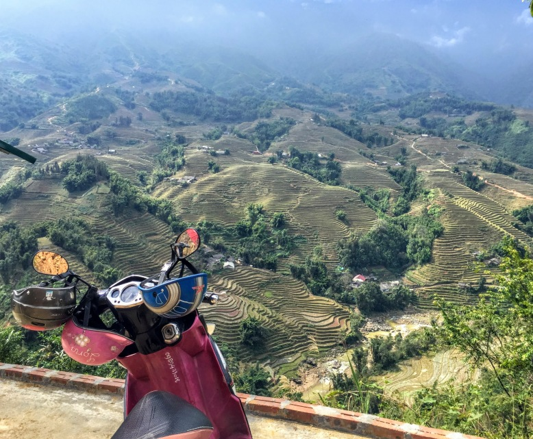 Traveling Sapa on a scooter