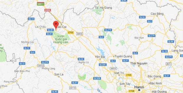 SAPA VIETNAM MAP